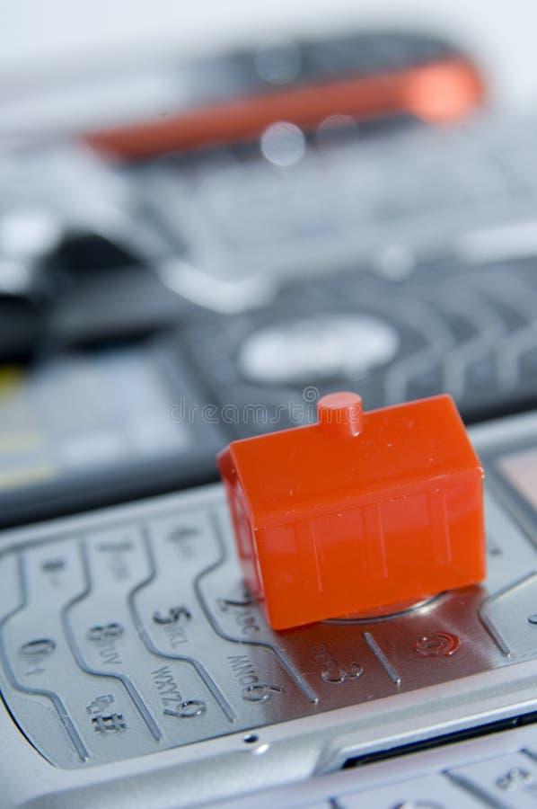 Haus Und Telefone Lizenzfreie Stockbilder