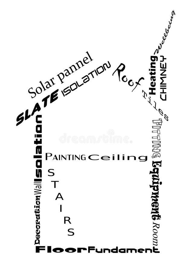 Haus und Wörter vektor abbildung