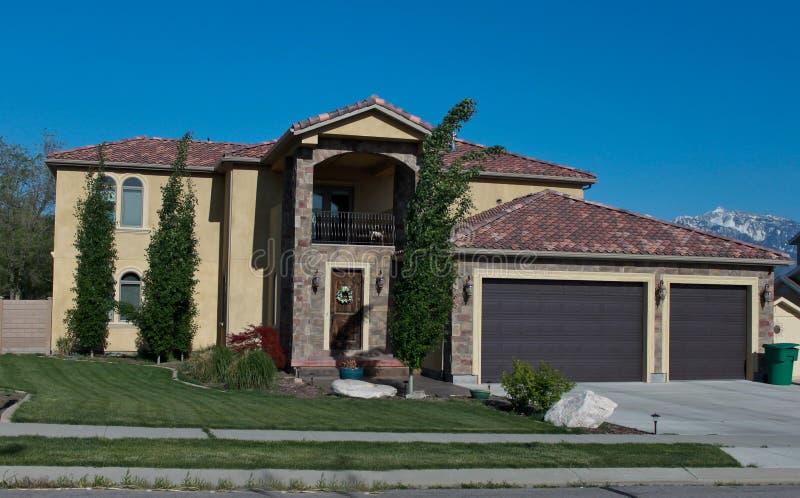 Haus in Utah stockfotografie