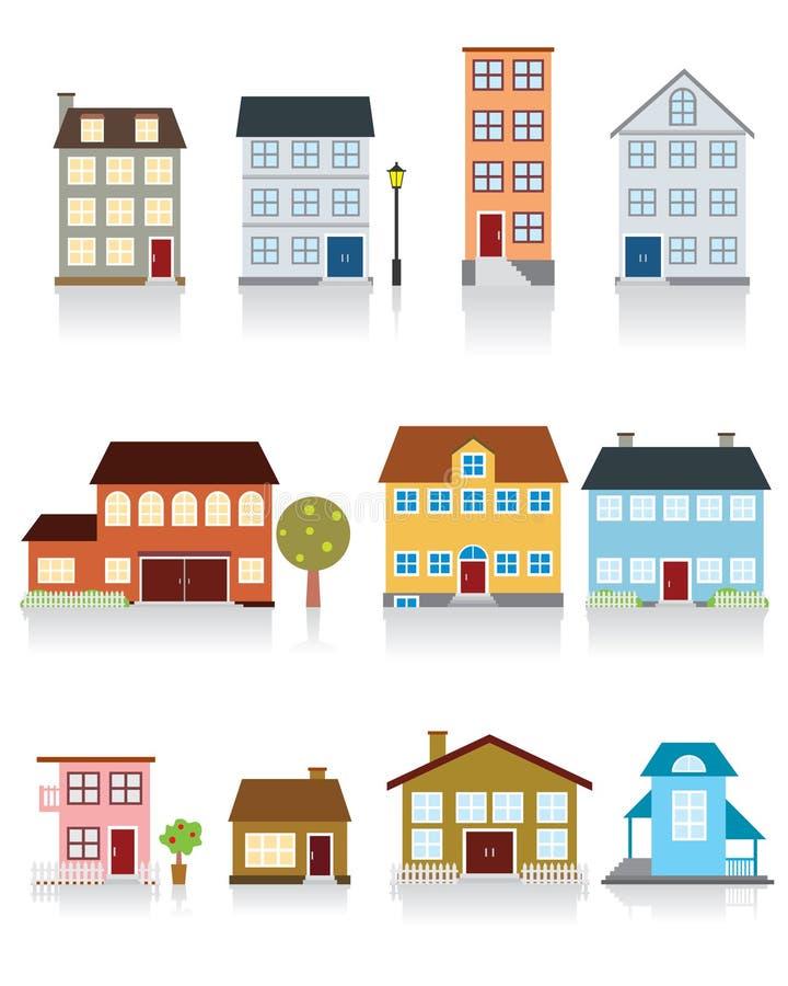 Haus-vektorikone stock abbildung