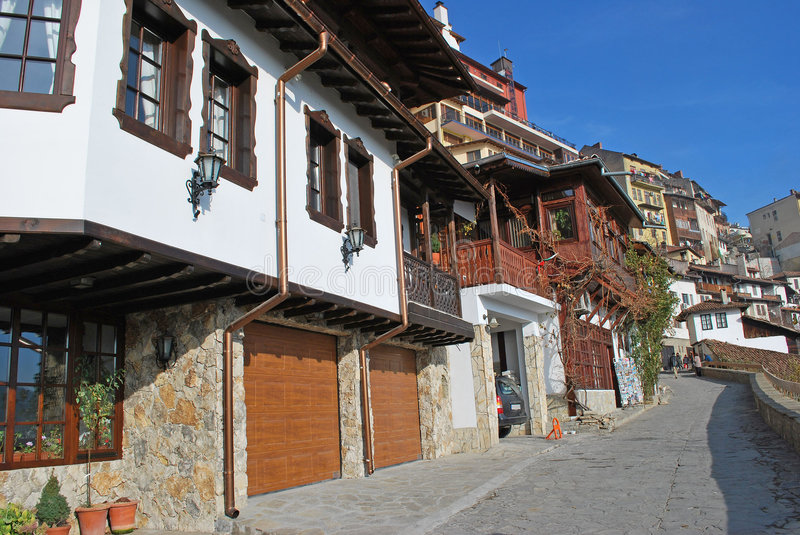 Haus Veliko Turnovo der alten Art stockfotos