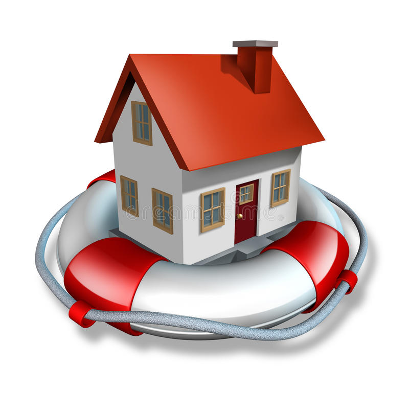 Haus-Versicherung vektor abbildung