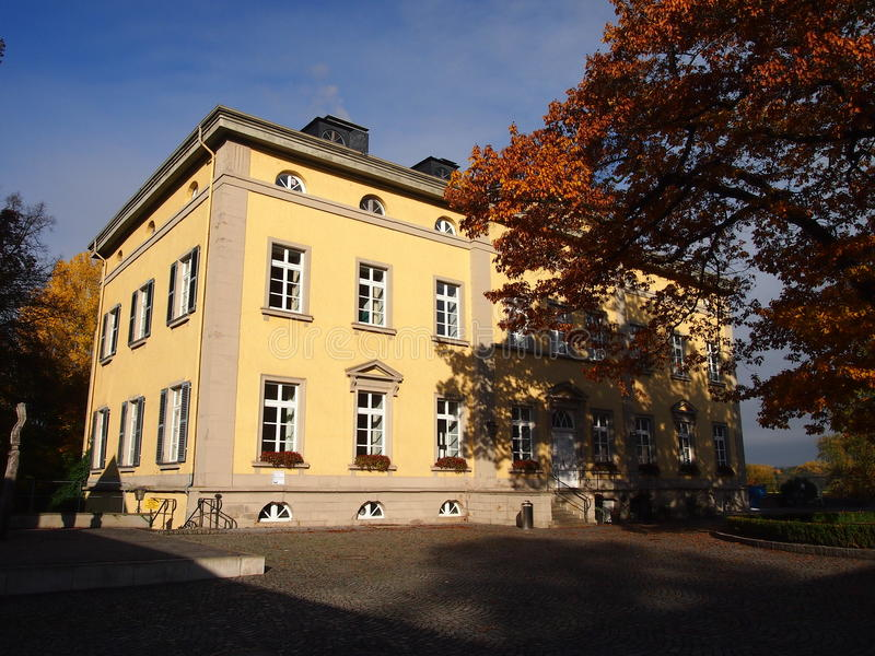 Haus Villigst in Westphalia, Germany. The former manor house of Haus Villigst near Dortmund, Germany, which today houses the conference centre Evangelische royalty free stock photos