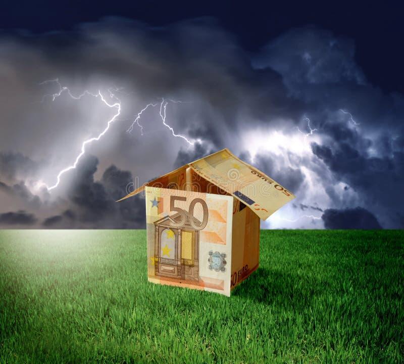 Haus vom Geld stockbilder