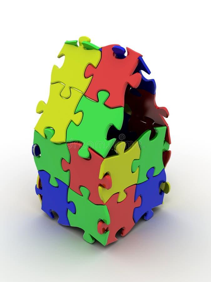 Haus vom Puzzlespiel stock abbildung