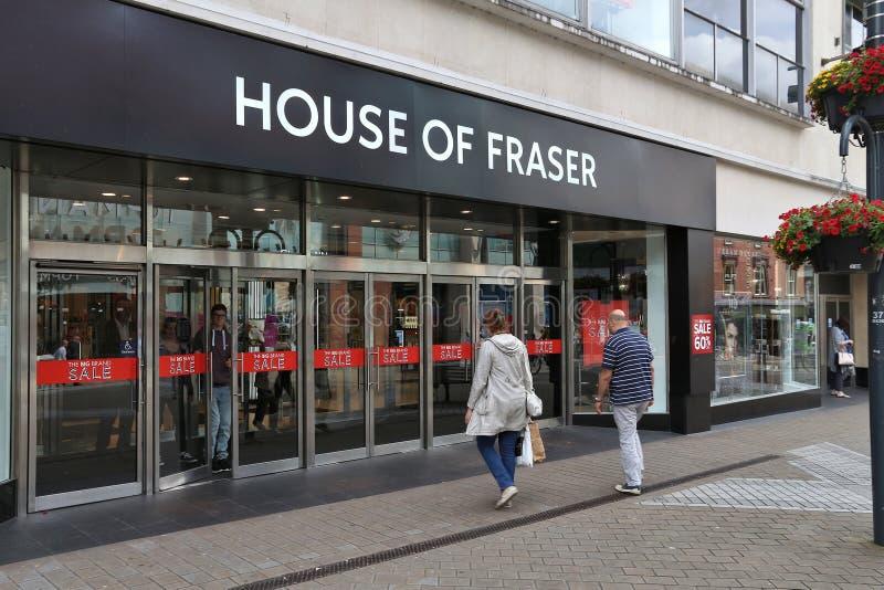Haus von Fraser stockbilder