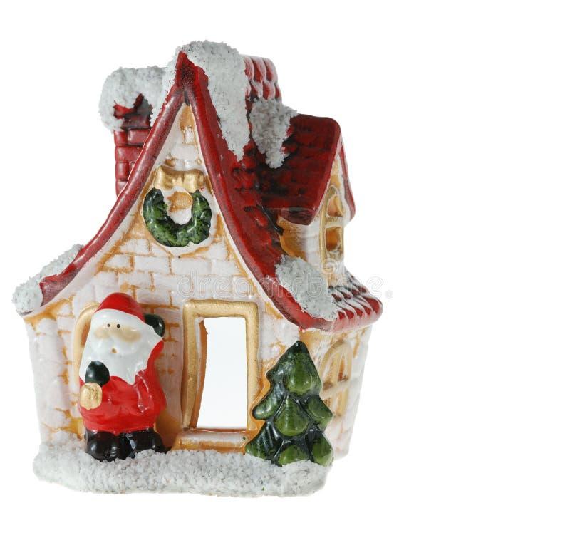 Haus Weihnachtsmann lizenzfreie stockbilder