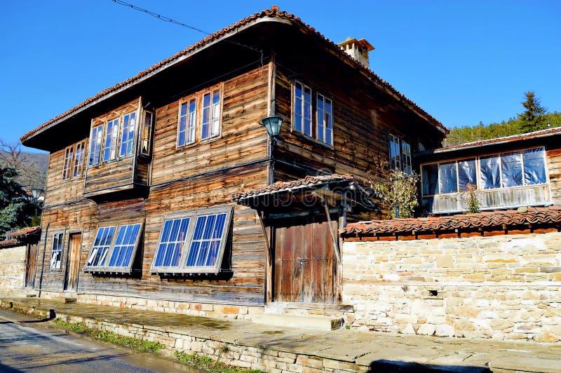 Haus in Zheravna stockfoto