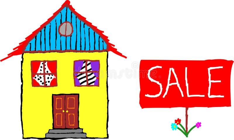 Haus zu verkaufen vektor abbildung