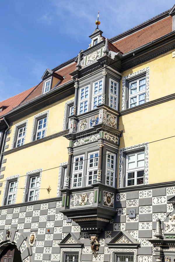 Haus zum的Stockfisch镇博物馆在埃福特 库存图片