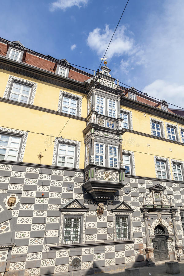 Haus zum的Stockfisch镇博物馆在埃福特 免版税库存照片