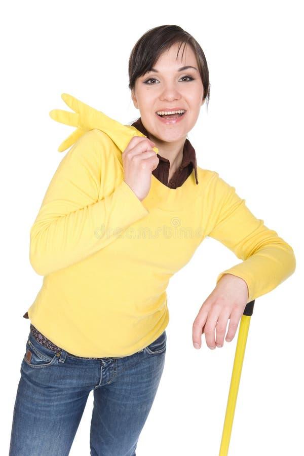 Download Hausarbeit stockbild. Bild von frau, inländisch, lächeln - 9093275