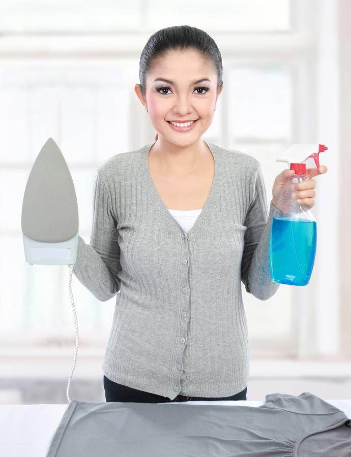 Hausarbeit zu Hause stockbild