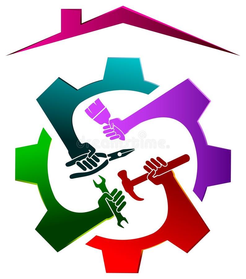 Hausarbeitsteam stock abbildung