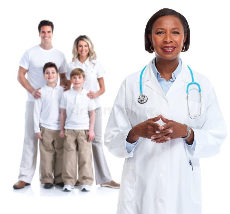 Amerikanische Krankenschwester Des Schwarzafrikaners Mit..