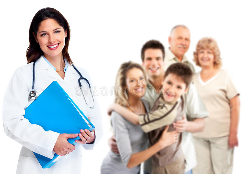 Hausarztfrau. Gesundheitswesen. lizenzfreies stockbild