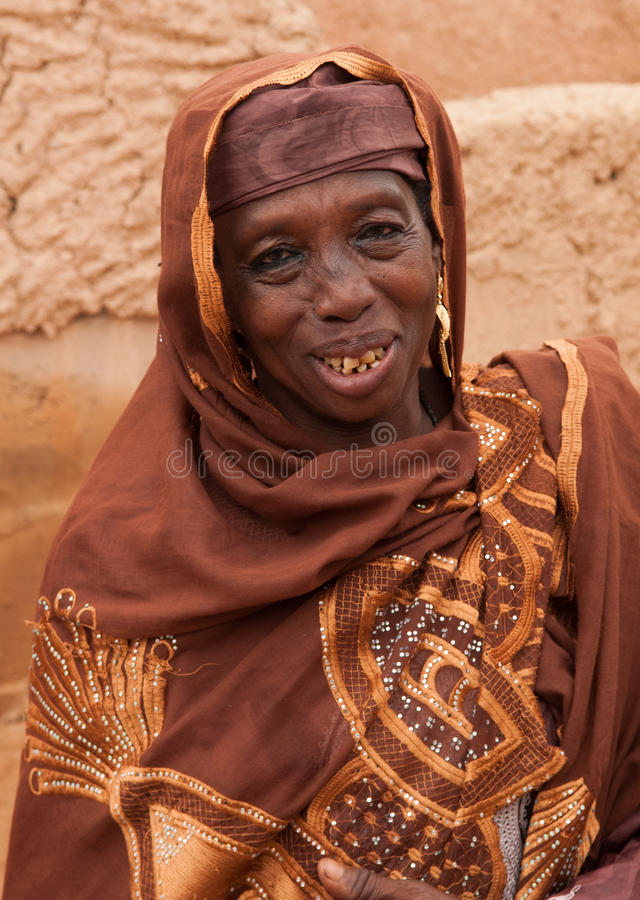 Hausavrouwen in Zinder, Niger royalty-vrije stock fotografie