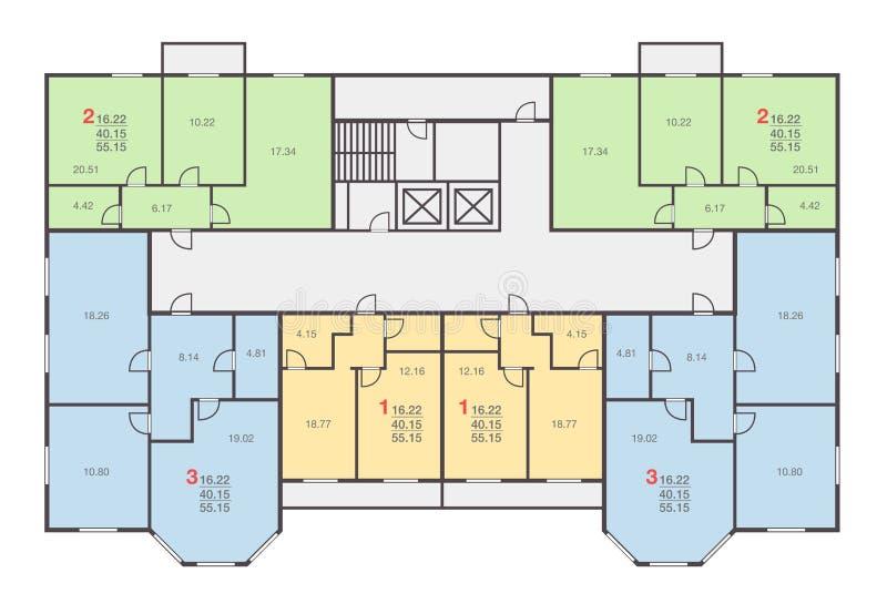 Hausboden-Vektorsatz stock abbildung