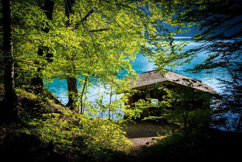 Hause на озере стоковое изображение