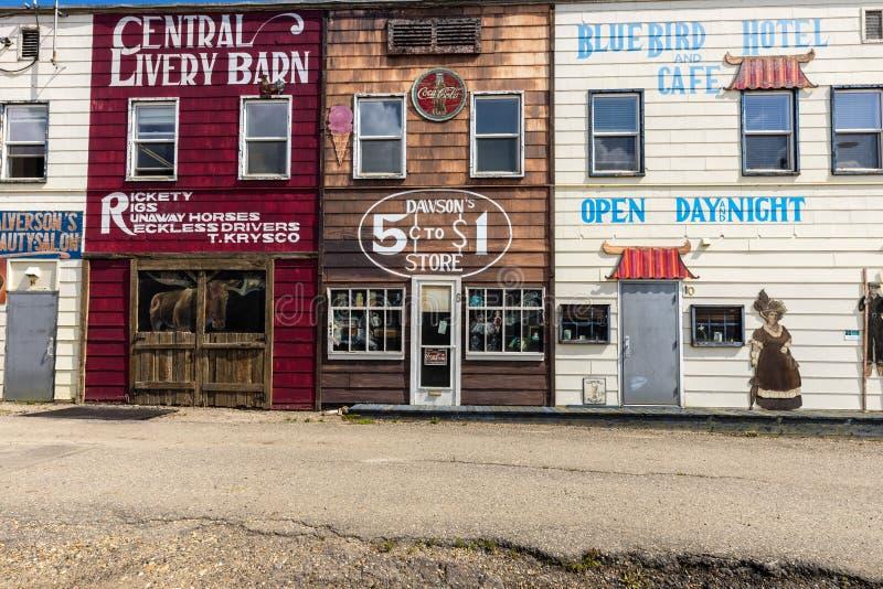 Hausfassade in Dawson Creek in Kanada, 04 Juli 2019 stockbild