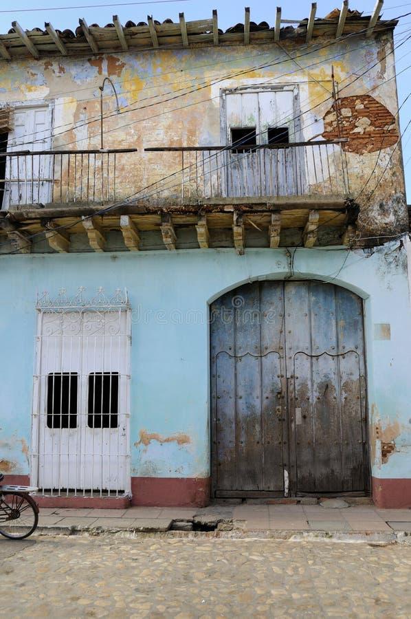 Hausfassade in Trinidad lizenzfreie stockbilder