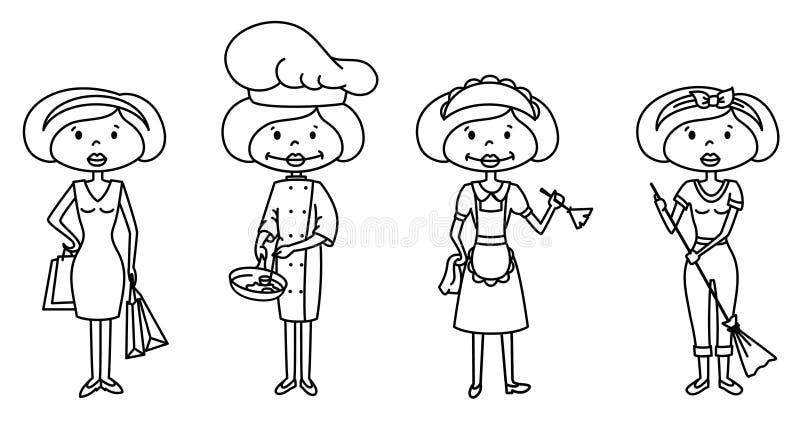 Hausfrau lizenzfreie abbildung