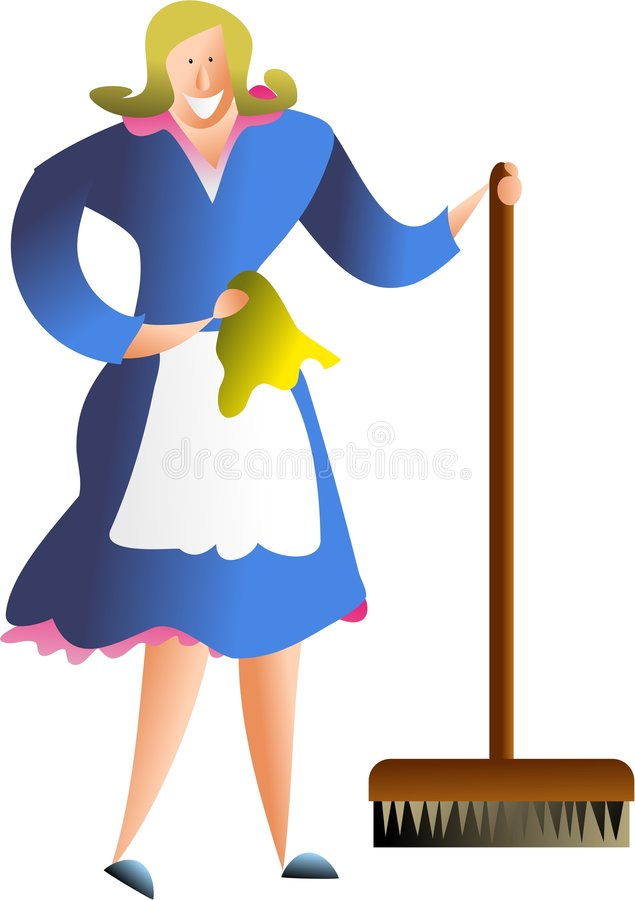Hausfrau vektor abbildung