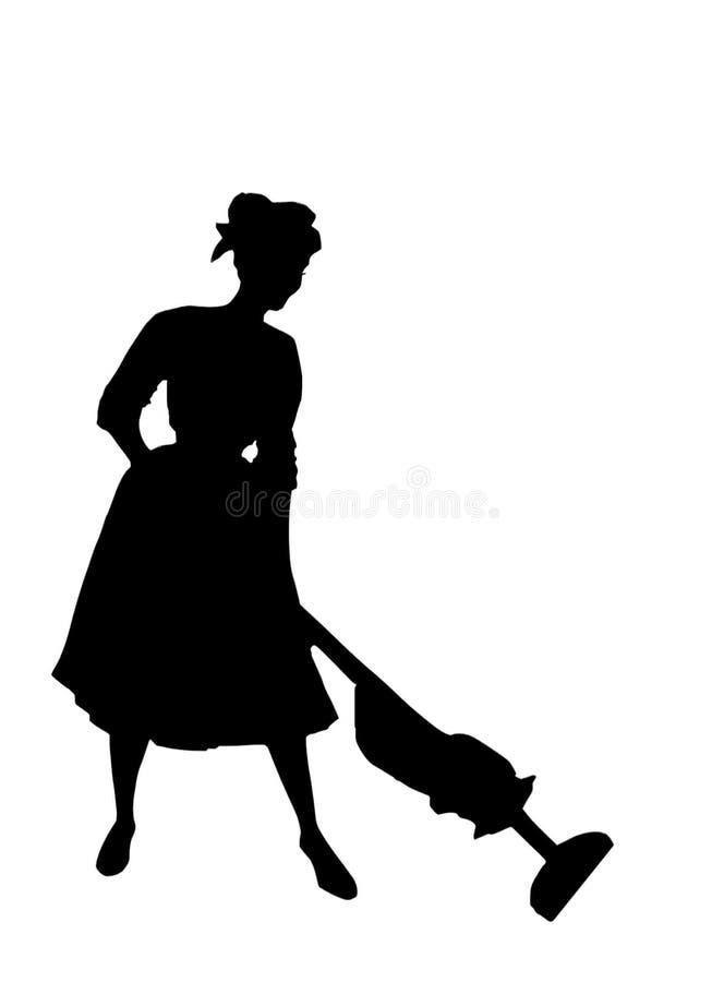 Hausfrau der Fünfzigerjahre lizenzfreie abbildung