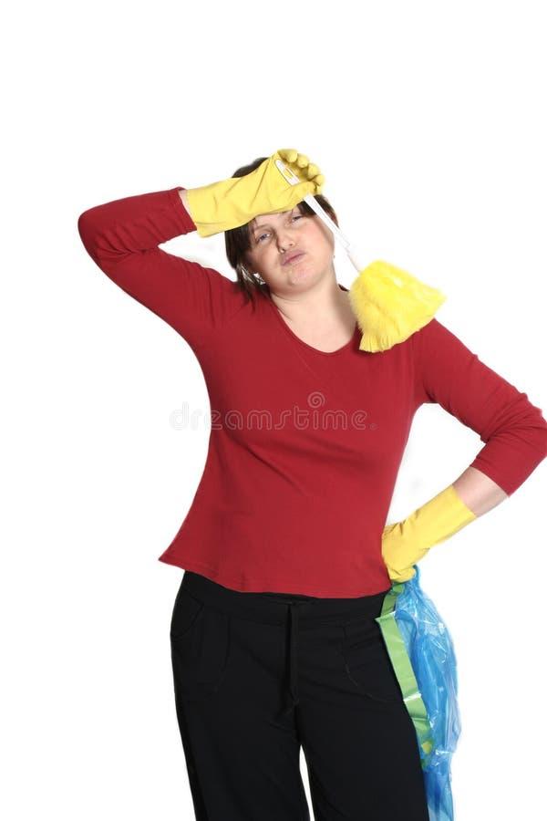 Hausfrau ermüdet stockbilder