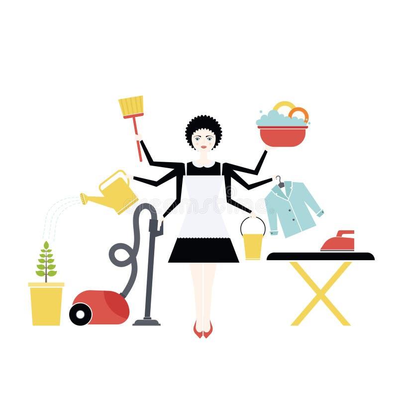 Haushälterin stock abbildung. Illustration von haus, hausarbeit ...