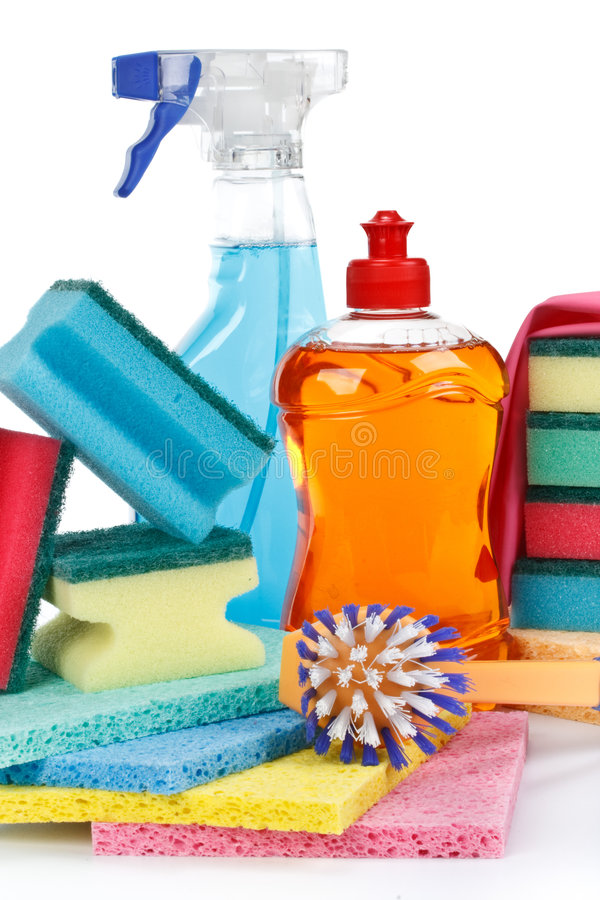 Haushaltschemikalienwaren lizenzfreie stockbilder