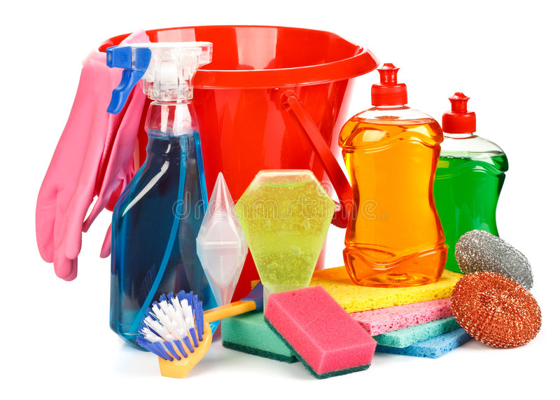 Haushaltschemikalienwaren lizenzfreie stockfotos