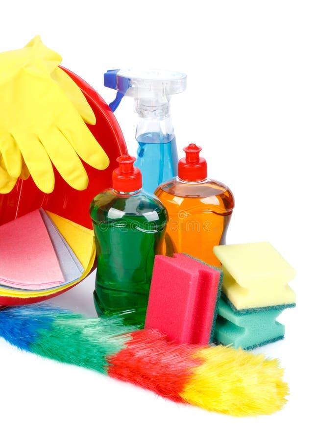 Haushaltschemikalienwaren stockbild