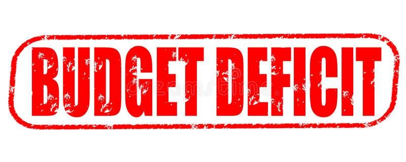 Haushaltsdefizitstempel auf weißem Hintergrund stock abbildung