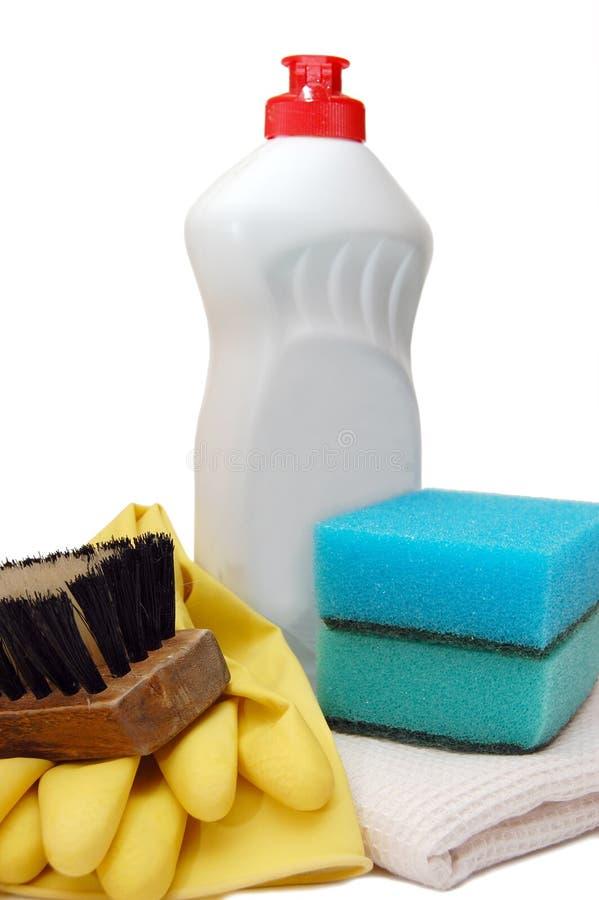 Haushaltsfelder für Sauberkeit stockfotos