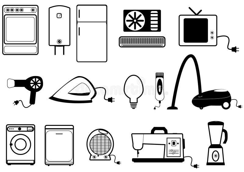 Haushaltsgeräte lizenzfreie abbildung