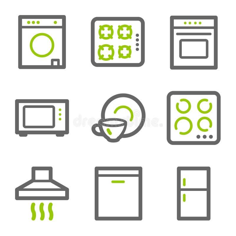 Haushaltsgerätweb-Ikonen lizenzfreie abbildung