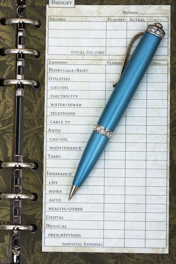 Haushaltsplanung Ihrer persönlichen Finanzen lizenzfreies stockfoto