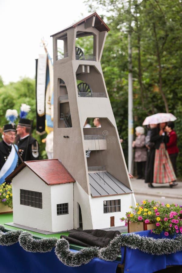 Hausham, Германия, 07 17 2016: торжество 50 лет закрытия шахты в Hausham стоковые фотографии rf