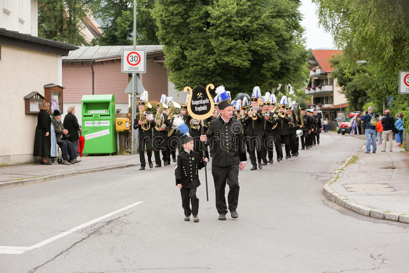 Hausham, Германия, 07 17 2016: торжество 50 лет закрытия шахты в Hausham стоковые фото