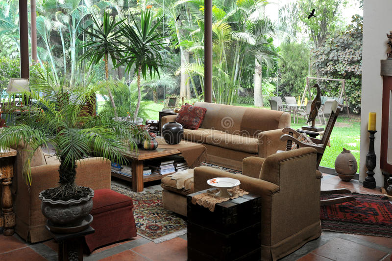 Hausinnenraum in Lima, Peru lizenzfreie stockfotografie