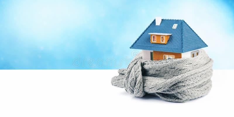 Hausisolierungskonzept Kopieren Sie Platz stockbild