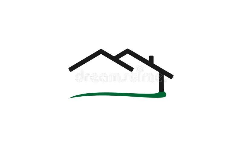Hauslogodesign lizenzfreie abbildung