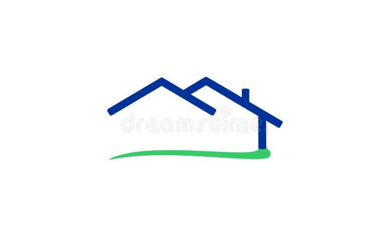 Hauslogodesign stock abbildung