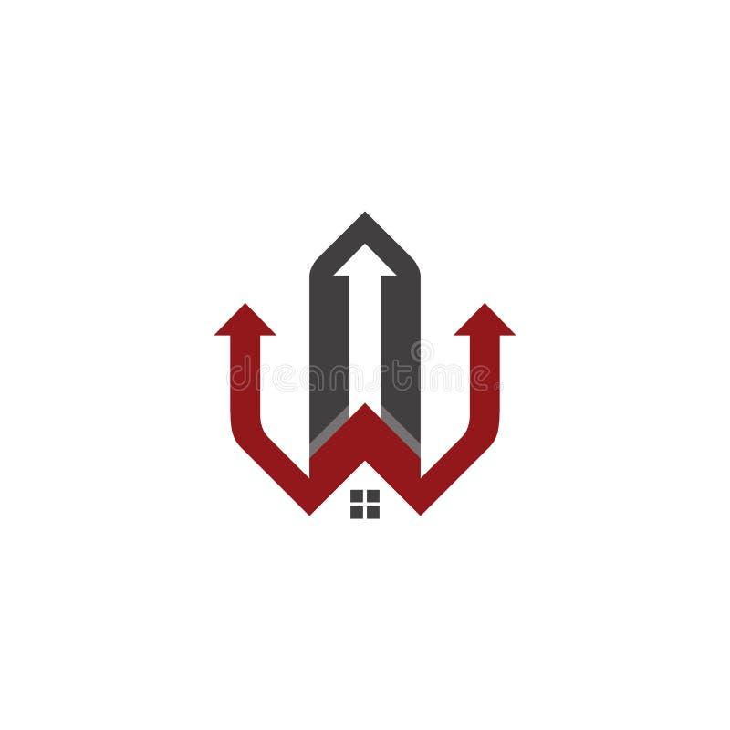 Hauslogogesch?ft Logo Contruction stock abbildung