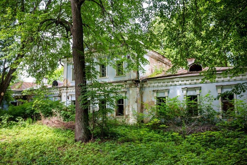 Hausmanager im Zustand Stepanovskoe-Pavlishchevo 18-19 Jahrhunderte, allgemeine Ansicht stockfotos