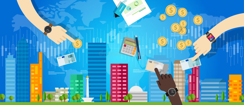 HAUSmarkt-Investitionspreiswert des Eigentums Unterkunft stock abbildung