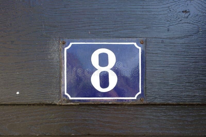 Hausnummer 8 lizenzfreie stockfotos