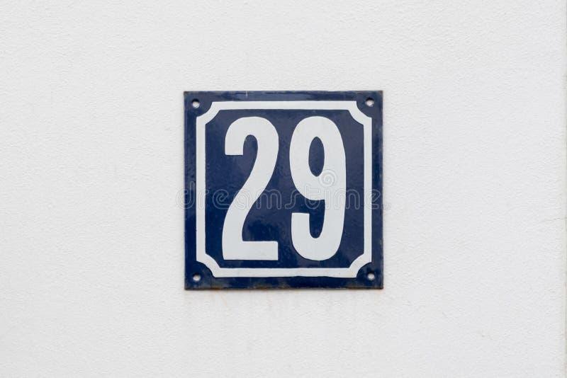 Hausnummer 29 stockfoto