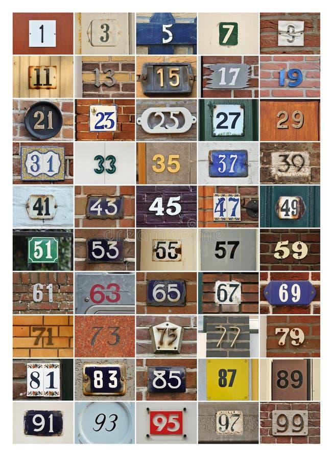 Hausnummern stockbild